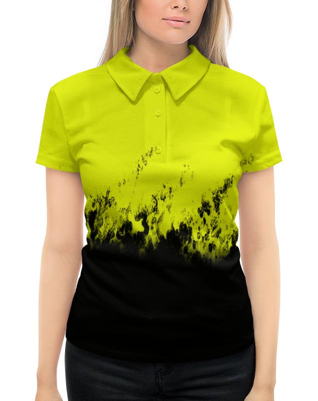 Рубашка Поло с полной запечаткой Printio Желто-черные краски поло print bar линии краски