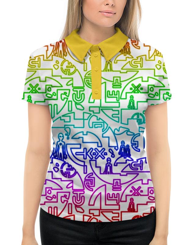 Рубашка Поло с полной запечаткой Printio Ufo style super soft frisbee ufo style silicone indoor outdoor toy for pet dog deep pink