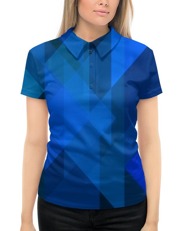 Рубашка Поло с полной запечаткой Printio Синий абстрактный casio mtp 1239d 1a
