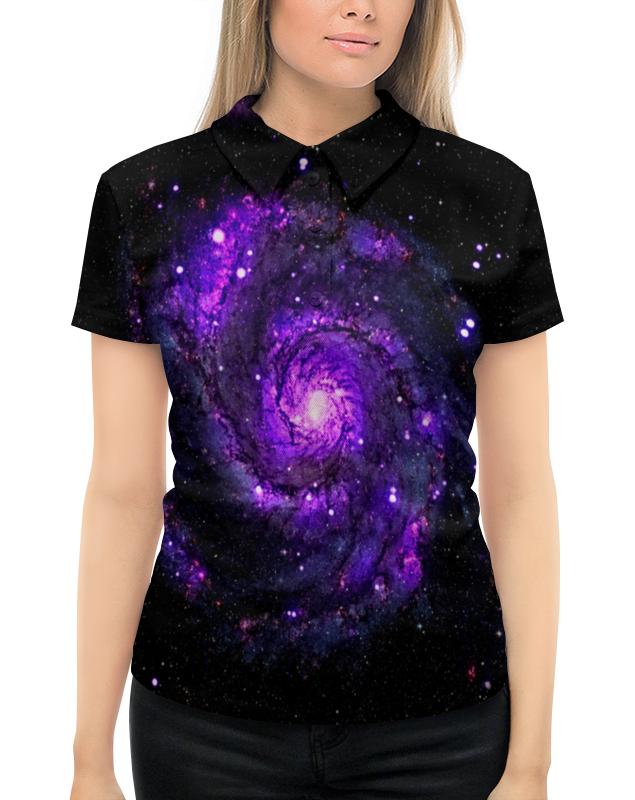 Рубашка Поло с полной запечаткой Printio Галактика