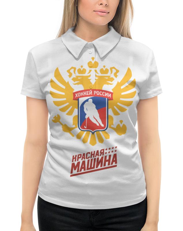 Рубашка Поло с полной запечаткой Printio Сборная россии по хоккею красная рубашка