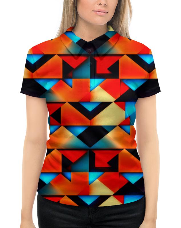 Рубашка Поло с полной запечаткой Printio Геометрческе фгуры