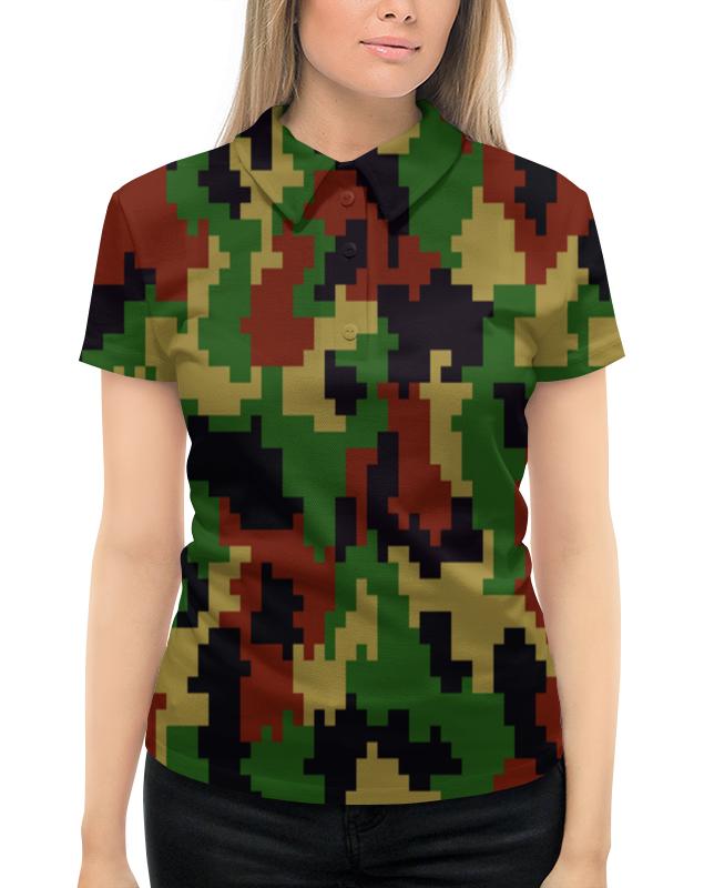 Рубашка Поло с полной запечаткой Printio Пестрый камуфляж пестрый мир детских проектов