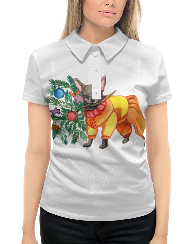 Рубашка Поло с полной запечаткой Printio Акварельная новогодняя забавная собака свитшот унисекс с полной запечаткой printio акварельная новогодняя забавная собака