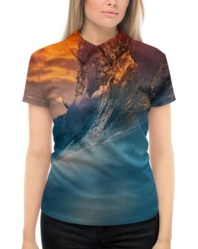 Рубашка Поло с полной запечаткой Printio Всплеск волны рубашка поло с полной запечаткой printio волны психоделика