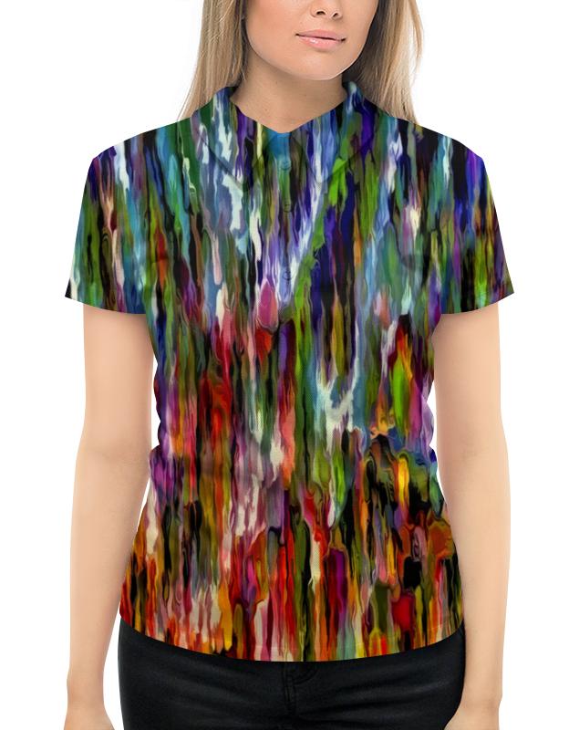 Printio Всплеск красок рубашка поло с полной запечаткой printio всплеск волны