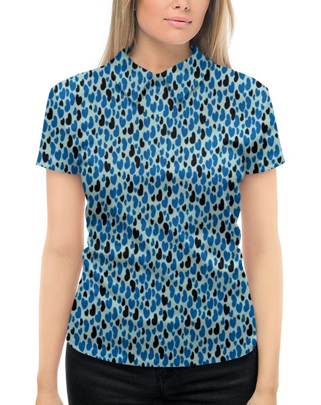 Рубашка Поло с полной запечаткой Printio Сердцепад