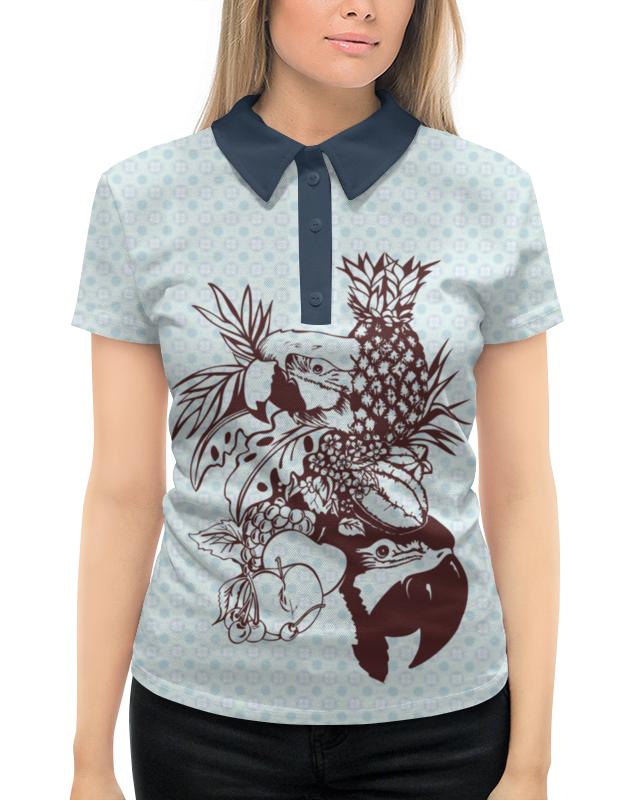 Рубашка Поло с полной запечаткой Printio Тропики