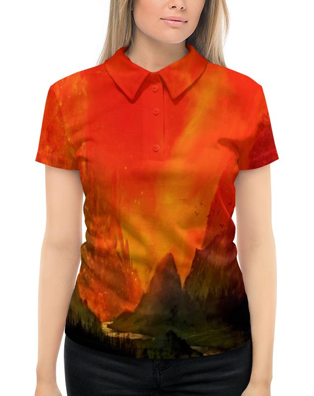 Рубашка Поло с полной запечаткой Printio Пламенный закат рубашка поло с полной запечаткой printio закат у моря