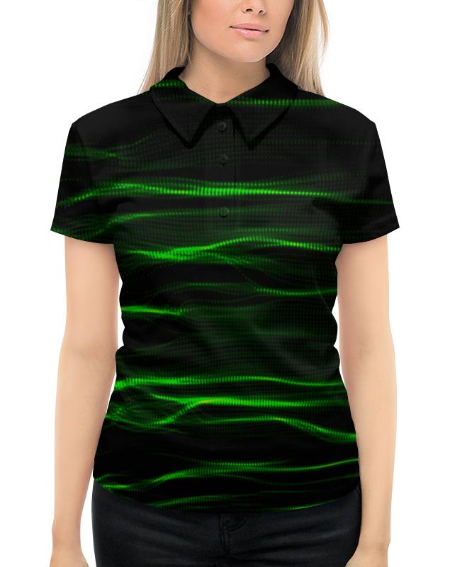 Printio Зеленые линии рубашка поло с полной запечаткой printio яркие линии