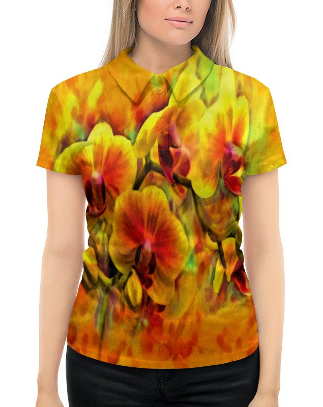 цена на Рубашка Поло с полной запечаткой Printio Желтые цветы