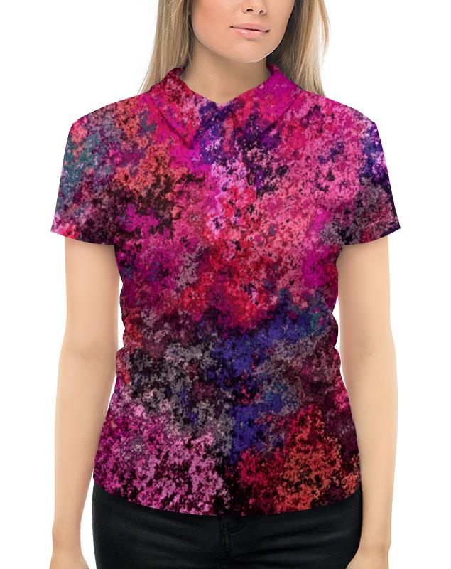 Рубашка Поло с полной запечаткой Printio Брызги цены