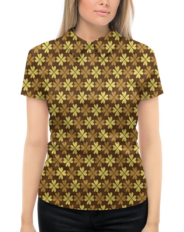 Рубашка Поло с полной запечаткой Printio Листы клевера листы латуни