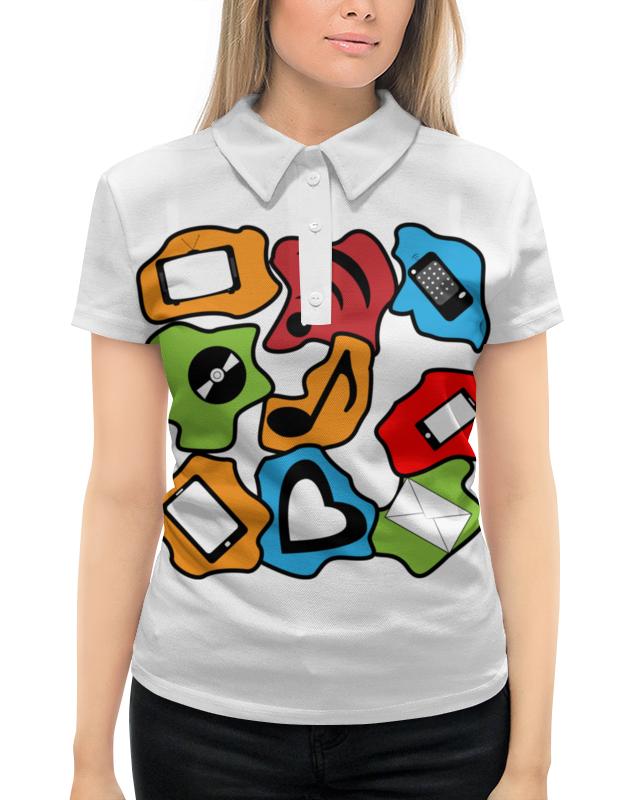 Рубашка Поло с полной запечаткой Printio Современные гаджеты фартук с полной запечаткой printio современные гаджеты