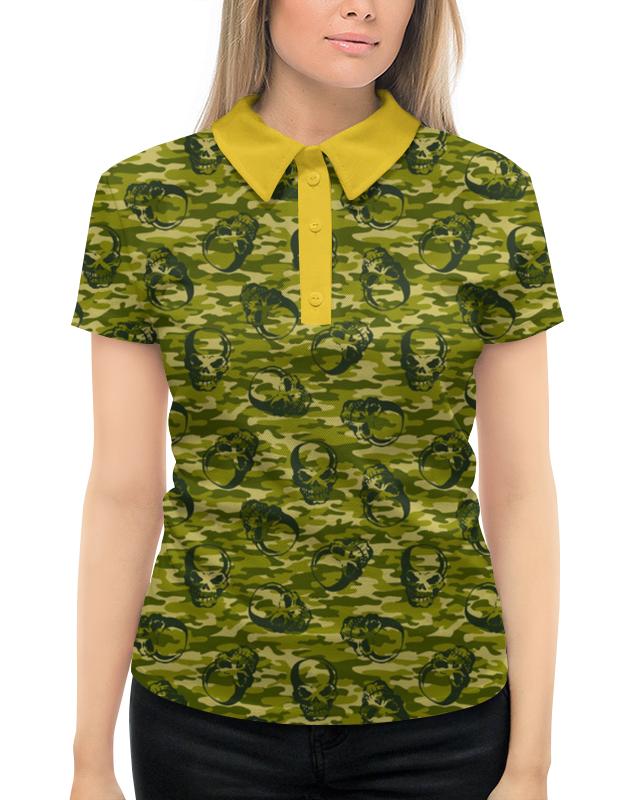 Рубашка Поло с полной запечаткой Printio Камуфляж и черепа поло print bar весёлые черепа