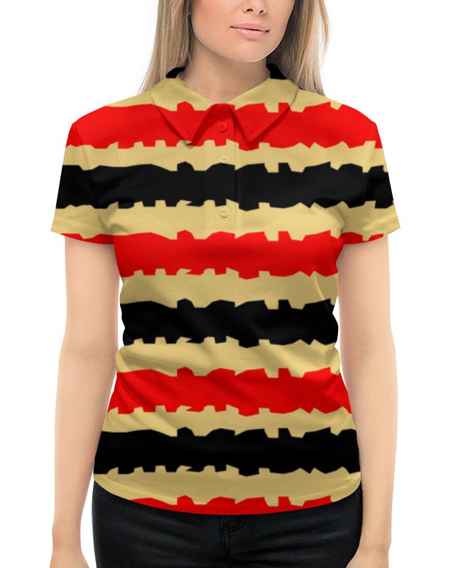 Рубашка Поло с полной запечаткой Printio Полоски с рванными краями футболка с полной запечаткой женская printio полоски с рванными краями