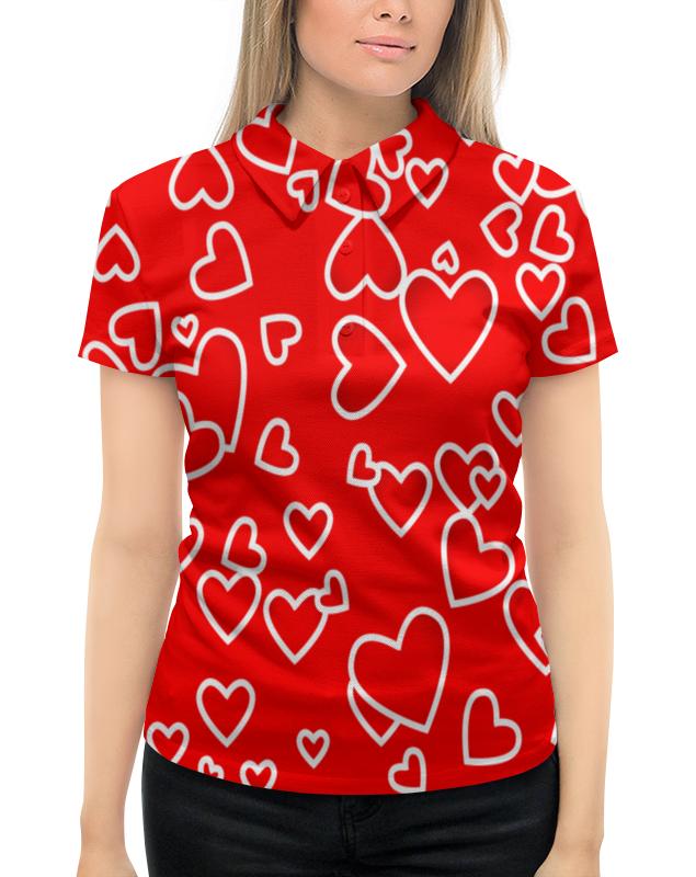 Рубашка Поло с полной запечаткой Printio Сердце