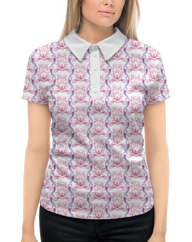 Рубашка Поло с полной запечаткой Printio Розовый узор рубашка dress in klingel цвет белый розовый хаки рисунок