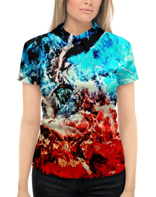 Рубашка Поло с полной запечаткой Printio Лед и пламя рубашка поло с полной запечаткой printio лед и пламя