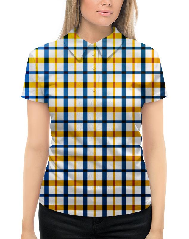 Рубашка Поло с полной запечаткой Printio Клетка рубашка поло printio фк нефтехимик