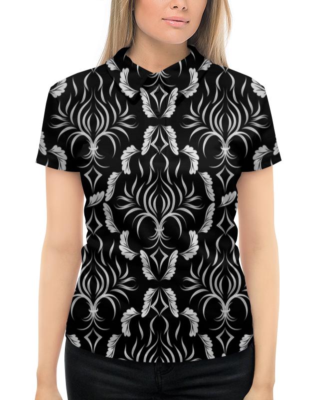 Рубашка Поло с полной запечаткой Printio Расписные листья футболка с полной запечаткой мужская printio расписные листья