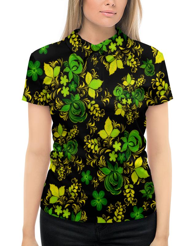 Рубашка Поло с полной запечаткой Printio Зеленый узор рубашка elegance creation цвет зеленый