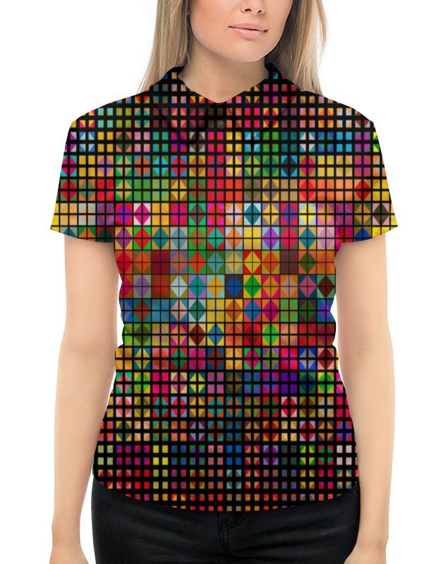 все цены на Рубашка Поло с полной запечаткой Printio Яркая мозаика онлайн
