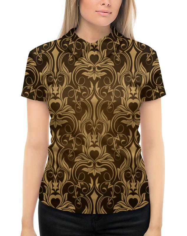 Рубашка Поло с полной запечаткой Printio Коричневый узор цена