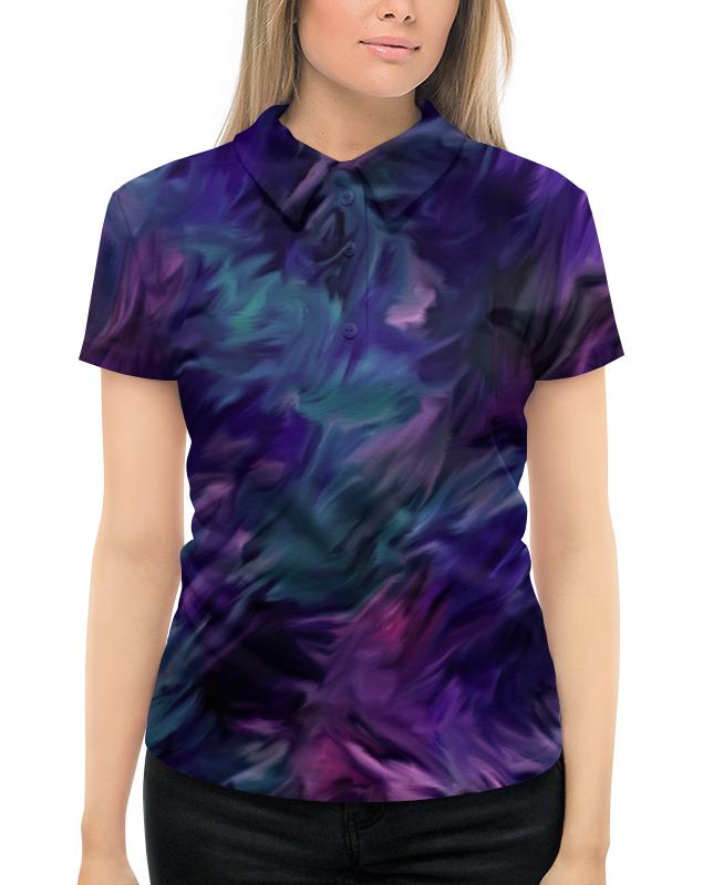 Рубашка Поло с полной запечаткой Printio Синие краски поло print bar линии краски