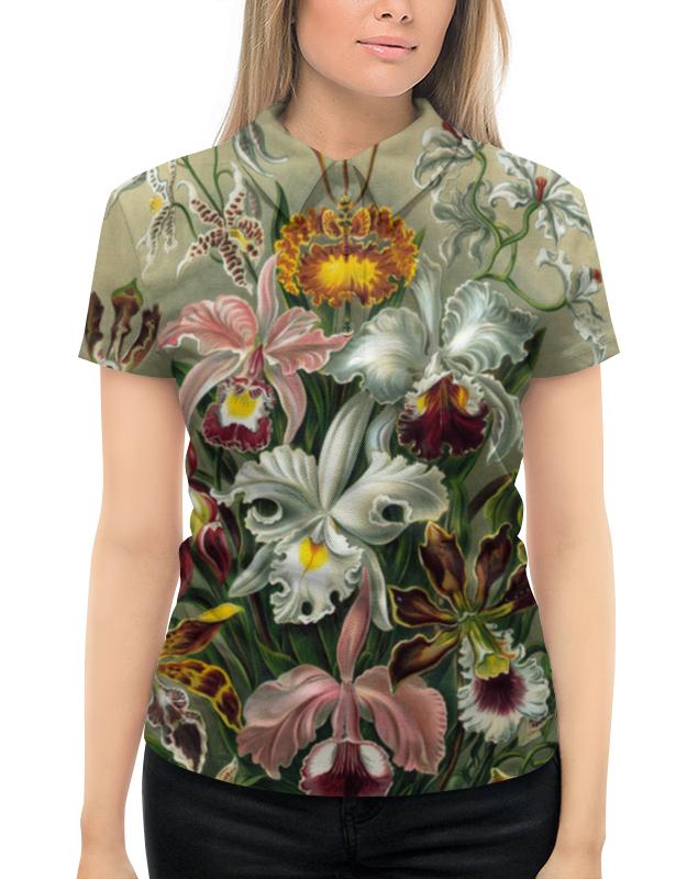 Рубашка Поло с полной запечаткой Printio Орхидеи (orchideae, ernst haeckel)