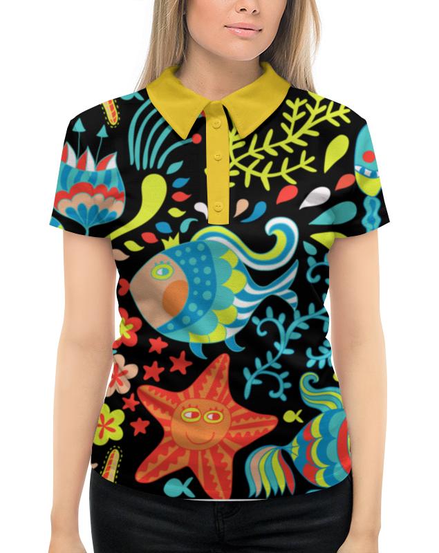Рубашка Поло с полной запечаткой Printio Обитатели моря лонгслив printio обитатели моря 2