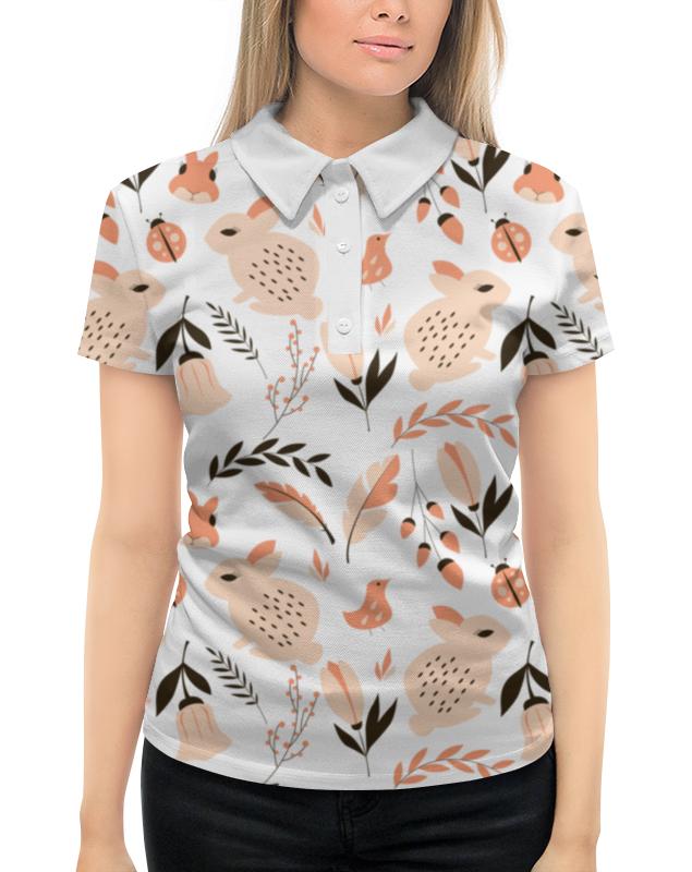 Рубашка Поло с полной запечаткой Printio Лесная поляна