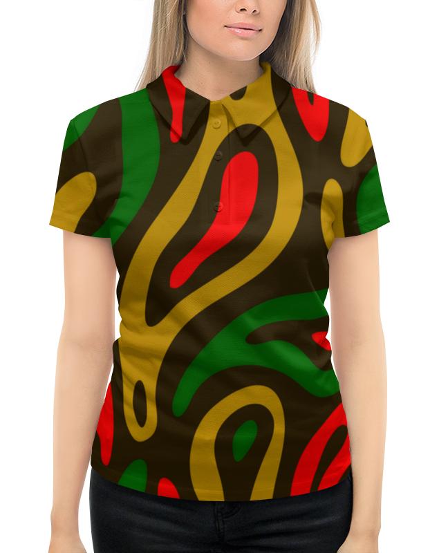 Рубашка Поло с полной запечаткой Printio Неоновый узор