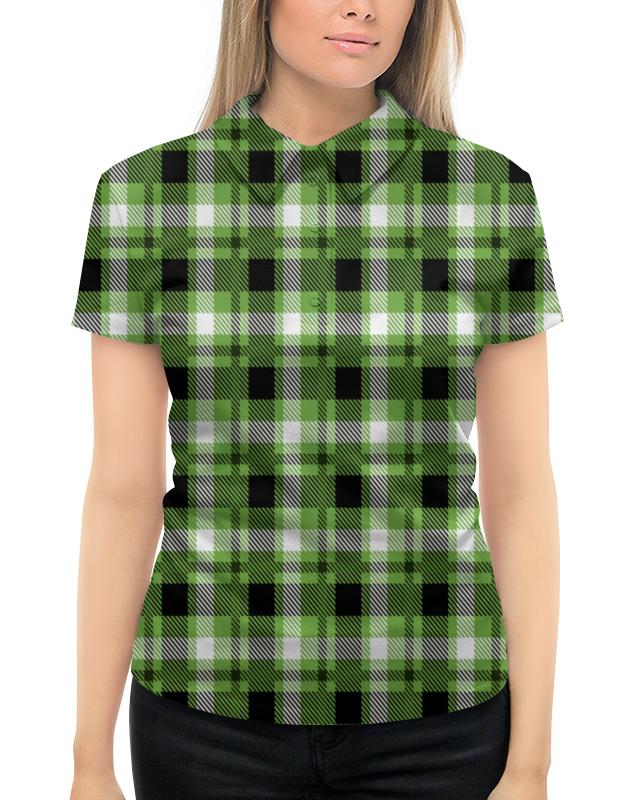 Рубашка Поло с полной запечаткой Printio Зеленая клетка givenchy pi neo