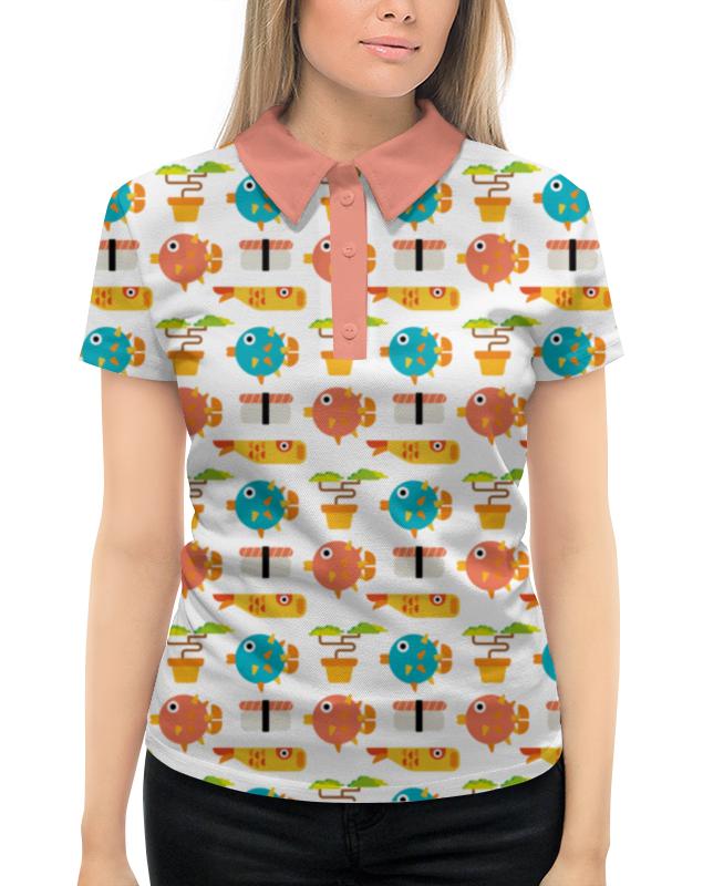 Рубашка Поло с полной запечаткой Printio Рыбки поло roger kent klingel цвет коралловый