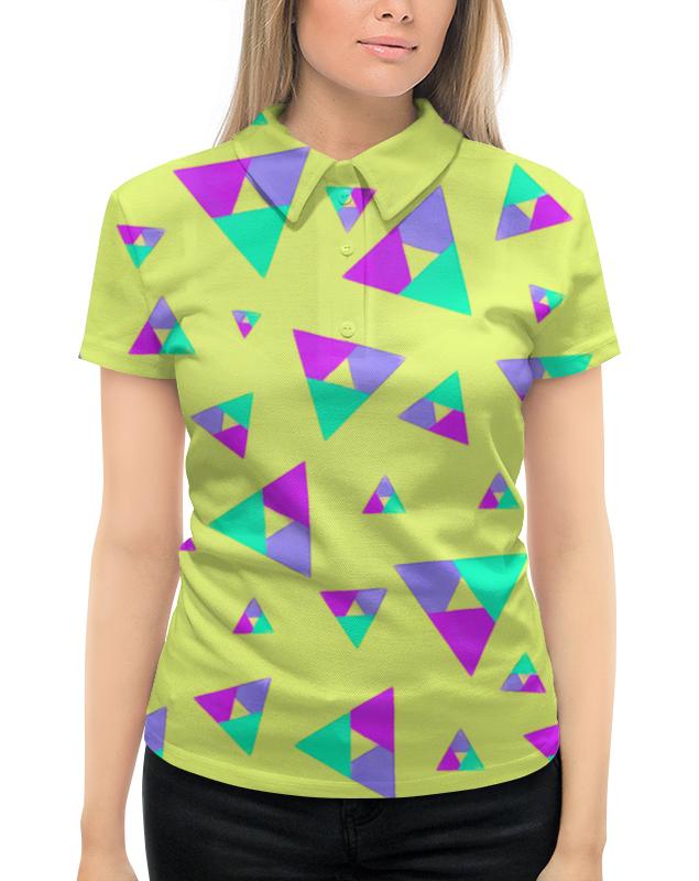 Рубашка Поло с полной запечаткой Printio Треугольники 1