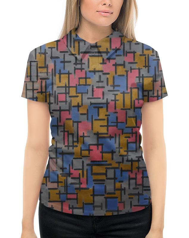 Рубашка Поло с полной запечаткой Printio Композиция (питер мондриан) борцовка с полной запечаткой printio композиция питер мондриан