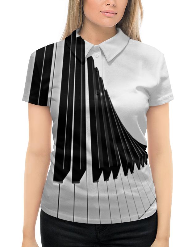 Рубашка Поло с полной запечаткой Printio Музыка