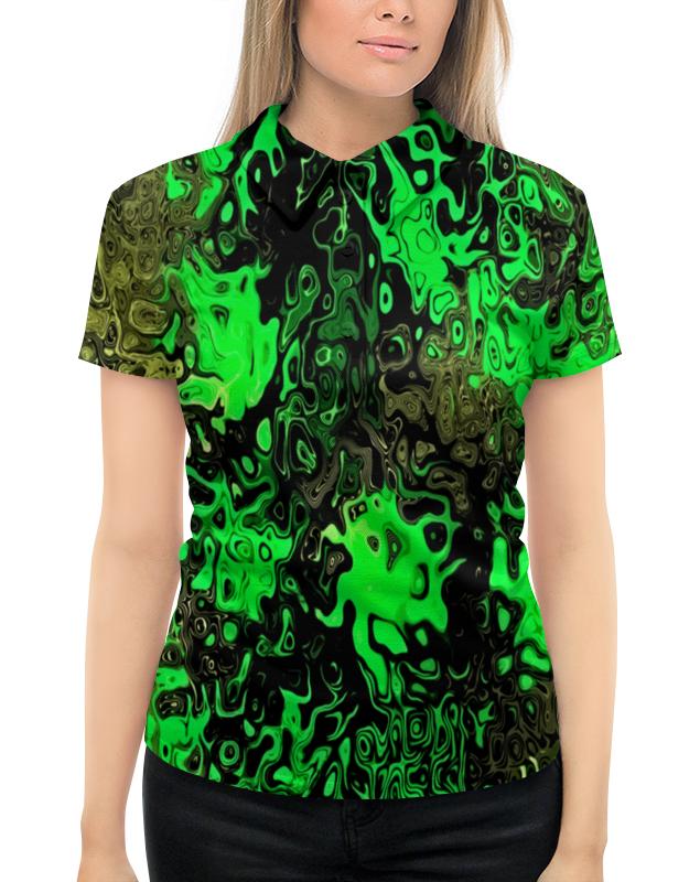 Рубашка Поло с полной запечаткой Printio Серо-зеленый женские часы morgan m1214b