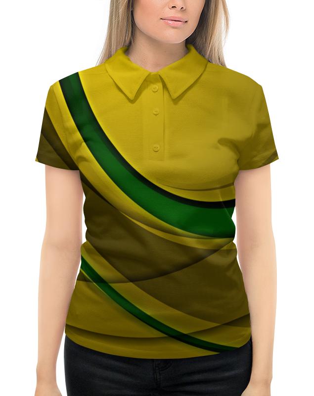Рубашка Поло с полной запечаткой Printio Линии рубашка поло с полной запечаткой printio оранжевые линии