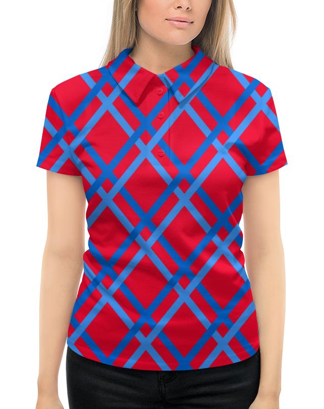 Рубашка Поло с полной запечаткой Printio Сине-голубые линии рубашка поло с полной запечаткой printio линии