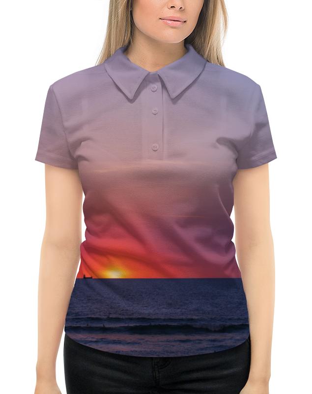 Рубашка Поло с полной запечаткой Printio Закат у моря рубашка поло с полной запечаткой printio пламенный закат