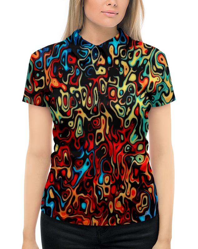 Рубашка Поло с полной запечаткой Printio Пятна красок