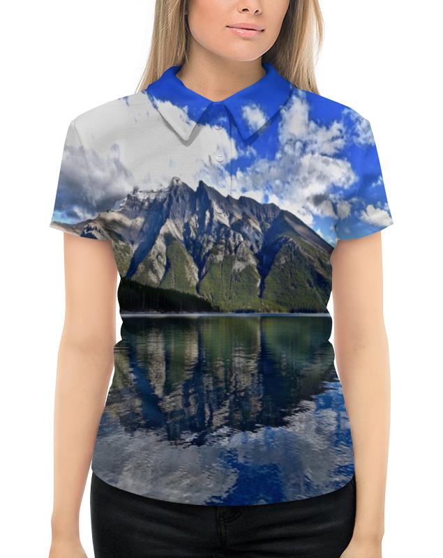 Рубашка Поло с полной запечаткой Printio Горы у берега никита павлов картина у берега