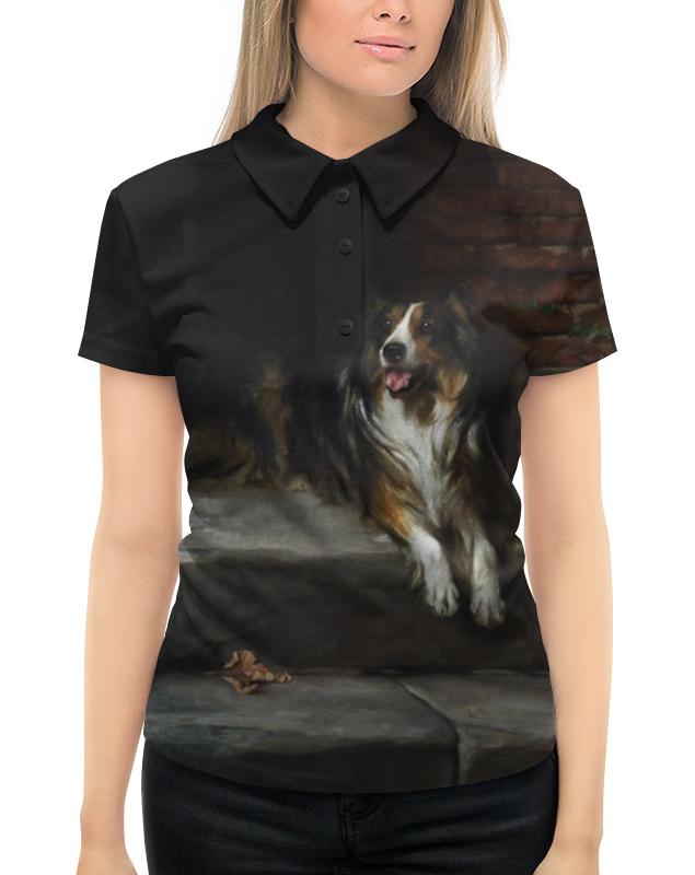 Рубашка Поло с полной запечаткой Printio Колли (картина артура вардля)