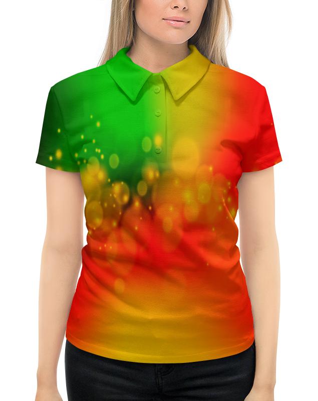 Рубашка Поло с полной запечаткой Printio Солнечные зайчики