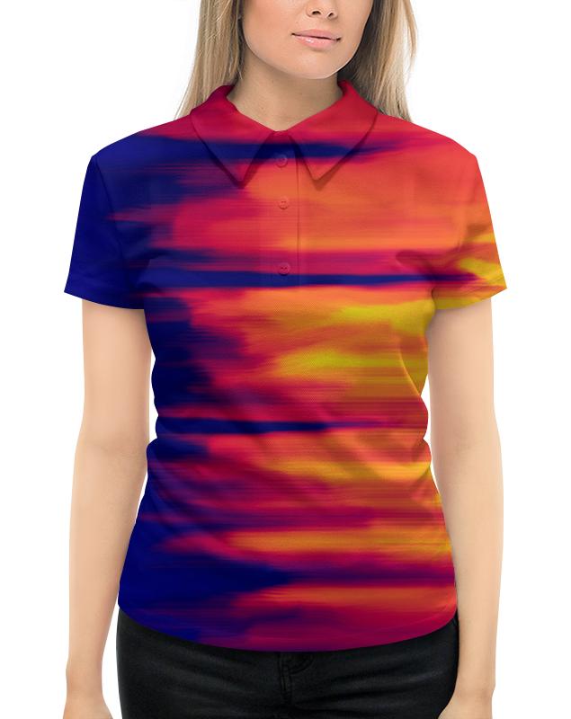Рубашка Поло с полной запечаткой Printio Размытые цвета рубашка поло с полной запечаткой printio переход цвета