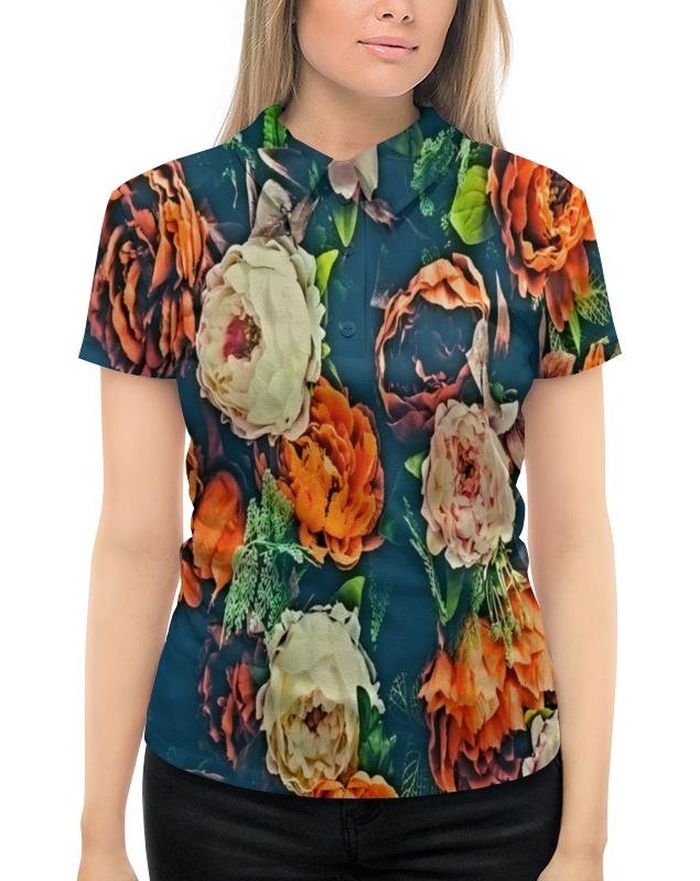 Рубашка Поло с полной запечаткой Printio Flowers