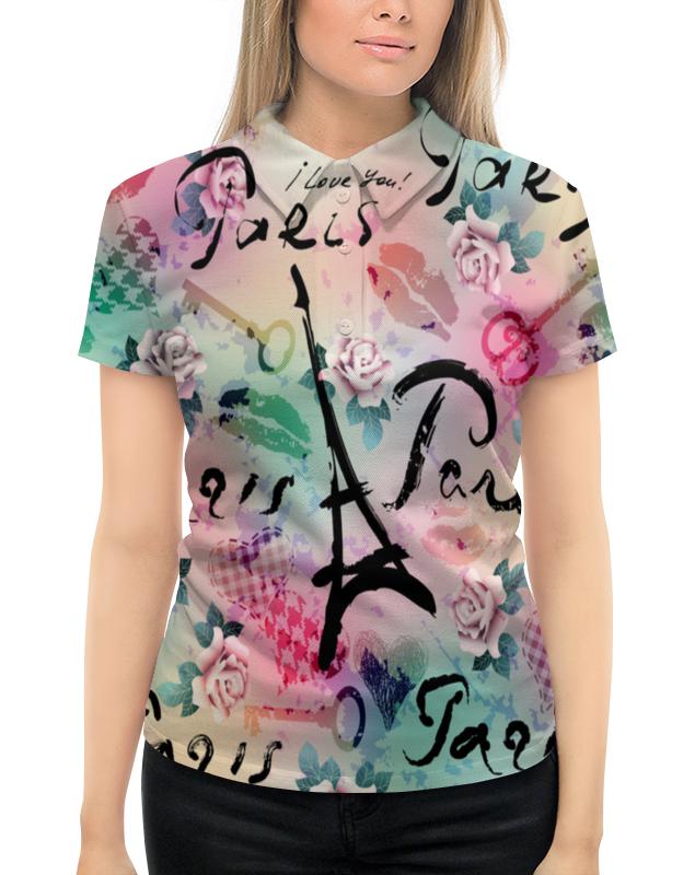 Рубашка Поло с полной запечаткой Printio Париж
