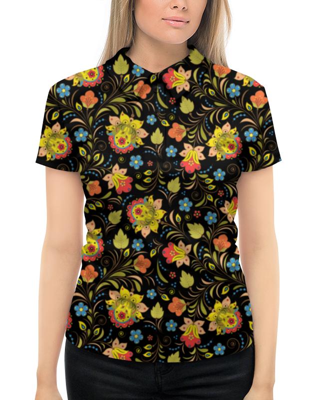 Рубашка Поло с полной запечаткой Printio Яркая хохлома